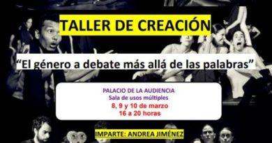 El Ayuntamiento programa un taller de creación impartido por Andrea Jiménez de Teatro en Vilo con el título 'El género a debate más allá de las palabras'
