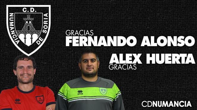 Fernando Alonso y Alex Huerta no continúan en el C. D. Numancia