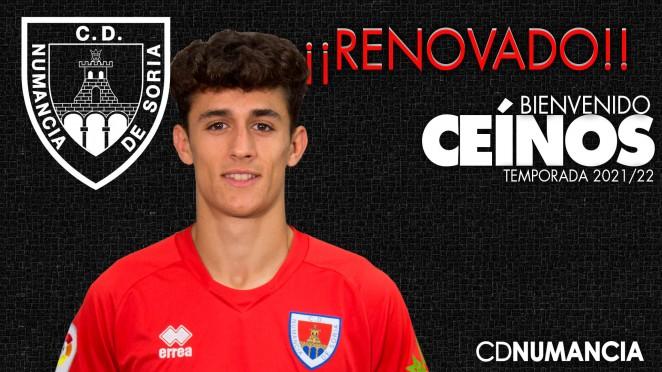 Daniel Ceinos renueva por el Club Deportivo Numancia de Soria