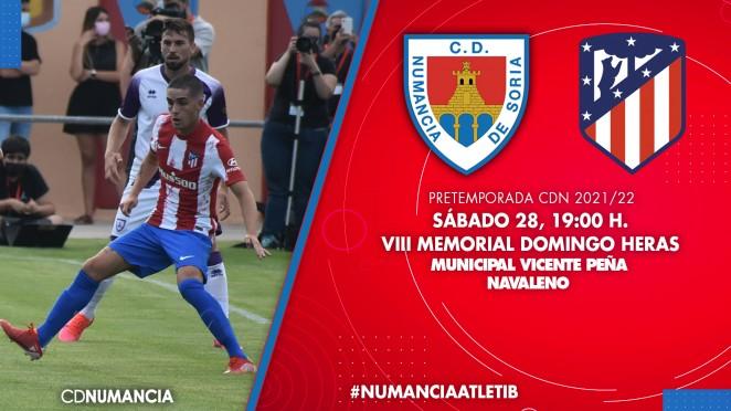 Memorial Domingo Heras enfrentará al equipo numantino con el Atlético de Madrid B