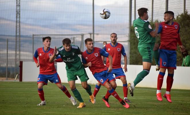 Partido de pretemporada entre el Club Deportivo Numancia de Soria y el Osasuna B
