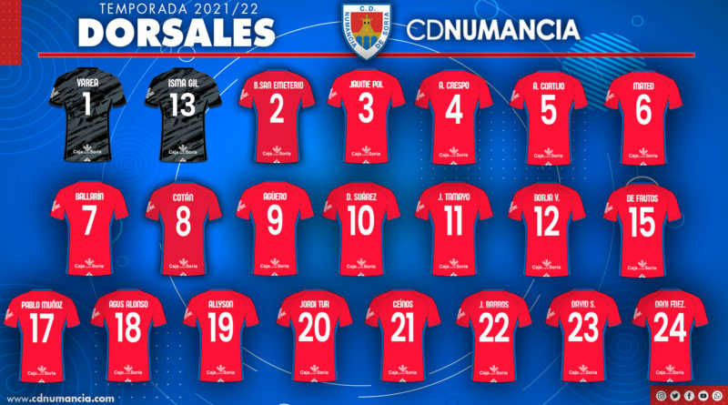 Dorsales Club Deportivo Numancia de Soria 2021-2022