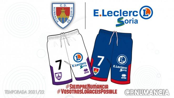 E. Leclerc patrocinador Club Deportivo Numancia de Soria