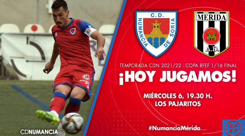 Partido Copa del Rey Club Deportivo numancia contra MÉRIDA.